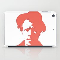 tom waits iPad Cases featuring Tom Waits in Red by JennFolds5 * Jennifer Delamar-Goss