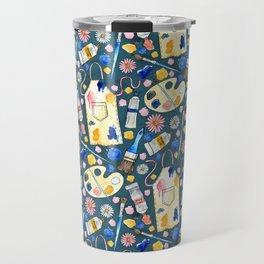 Creative Craft Corner on Dark Teal Travel Mug