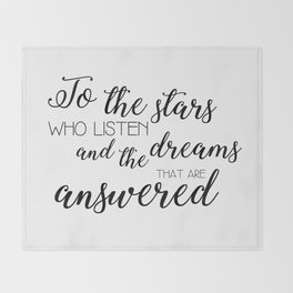 to the stars who listen (acomaf) Throw Blanket