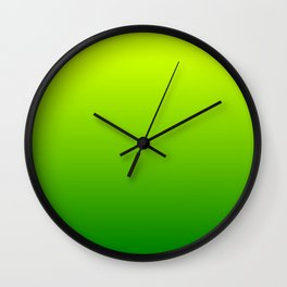 Bright Chartreuse Green Ombre Wall Clock