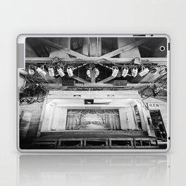 Gruene Hall stage (interior) - Oldest Dance Hall in Texas (B&W) Laptop & iPad Skin