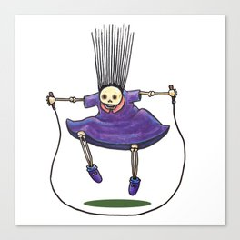 Jumprope Girl Canvas Print