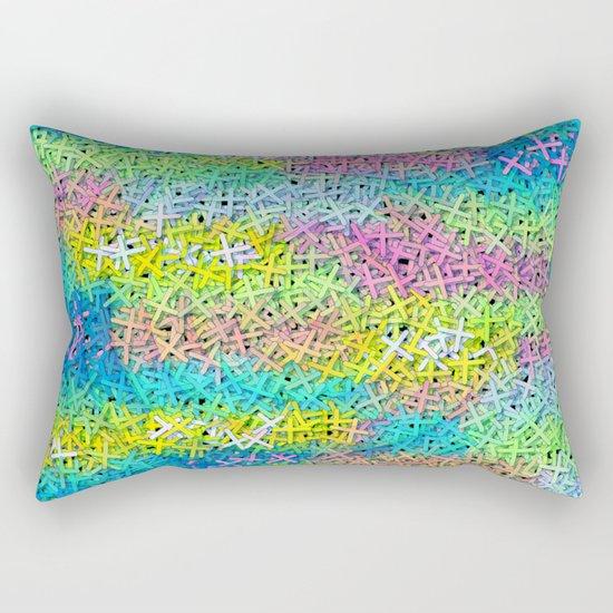 A pile of colorful joy Rectangular Pillow