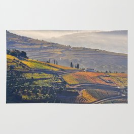 morning mists in the Vale do Douro Rug