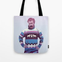 90s Tote Bags featuring 80/90s - Trmd by Mike Wrobel