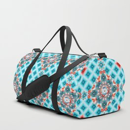 Folkloric Lovebirds Ombre Duffle Bag