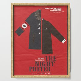 The Night Porter, movie poster, Liliana Cavani, Charlotte Rampling, Dirk Bogarde Serving Tray