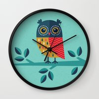 valentina Wall Clocks featuring OWL ALWAYS LOVE YOU by Daisy Beatrice