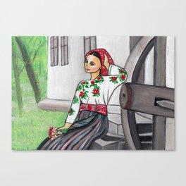 Folk art - I'm in love  Canvas Print