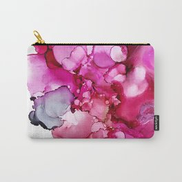 Alcohol Ink Prickly Pear Blossom Carry-All Pouch