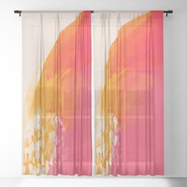 The Bright Abstract Waterfall Sheer Curtain