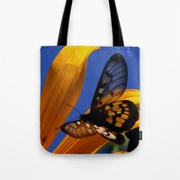transparent Tote Bags featuring Transparent Butterfly by Donuts