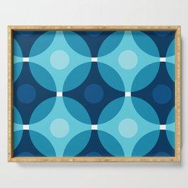 Blue Circles Serving Tray