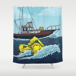 Jaws: Orca Illustration Shower Curtain