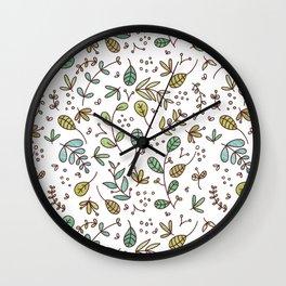 Botanical Illustration Wall Clock