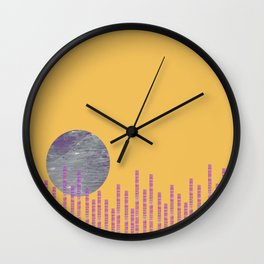 Moon Over the City 3 Wall Clock