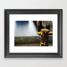 Rainy Dock Framed Art Print