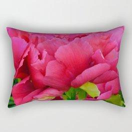 Dark Pink Tree Peony by Teresa Thompson Rectangular Pillow