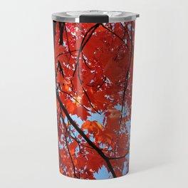 Red Maple Leaves Travel Mug