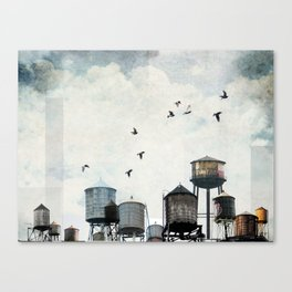 Watertanks 2 Canvas Print