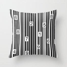 Barcode Throw Pillow