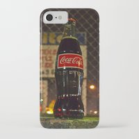 coke iPhone & iPod Cases featuring Nighttime Coke by Vorona Photography
