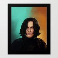 snape Canvas Prints featuring Severus Snape by Elsa D