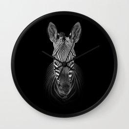 Zebra Portrait Wall Clock