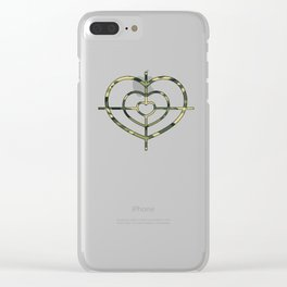 Heartscope Camo Clear iPhone Case
