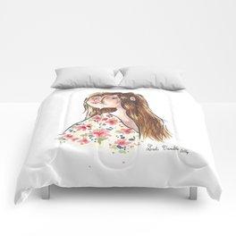 Jeune fille à fleurs Comforters