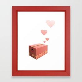 Love Box Framed Art Print
