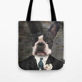 Sir Duncan - Boston Terrier Portrait Tote Bag