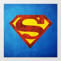 superman Canvas Prints featuring Superman by S.Levis