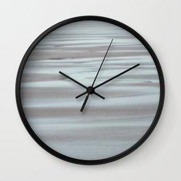 Blue and Beige Beach No. 2 Wall Clock