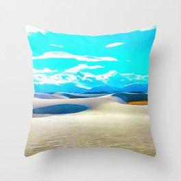 White Sands Throw Pillow