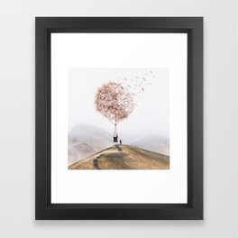 Flying Dandelion Framed Art Print