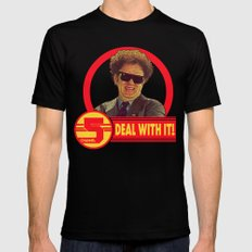 DEAL WITH IT! | Channel 5 | Brule Black Mens Fitted Tee MEDIUM