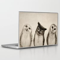 super Laptop & iPad Skins featuring The Owl's 3 by Isaiah K. Stephens