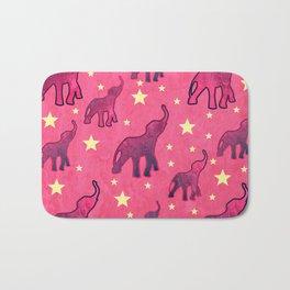 Elephants Stars Pattern Bath Mat
