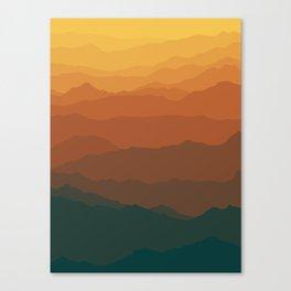 Ombré Range No. 3 Canvas Print