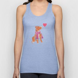 Watercolour Pit Bull Unisex Tank Top
