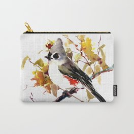Titmouse on Fall Tree Carry-All Pouch
