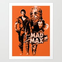 mad max Art Prints featuring Mad Max by leea1968