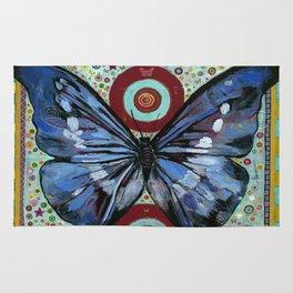 """Big Blue Butterfly"" copyright Ray Stephenson 2013 Rug"