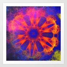 Vibrant fractal explosion Art Print