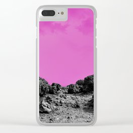 Pink Volcano Clear iPhone Case