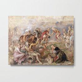 Peter Paul Rubens Meeting of King Ferdinand of Hungary and the Cardinal-Infante Ferdinand of Spain a Metal Print