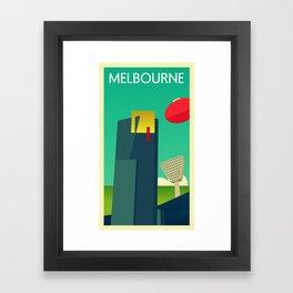 Melbourne - Vintage Retro Framed Art Print