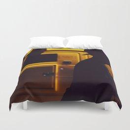Yellow van Australian man Duvet Cover