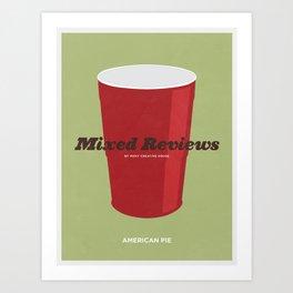Mixed Reviews - Americna Pie Art Print